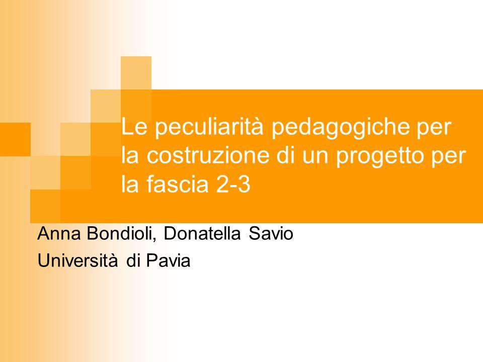 Anna Bondioli, Donatella Savio Università di Pavia