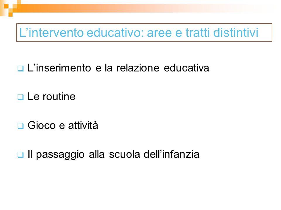 L'intervento educativo: aree e tratti distintivi