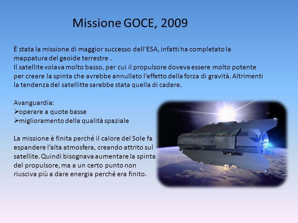 Missione GOCE, 2009 È stata la missione di maggior successo dell'ESA, infatti ha completato la mappatura del geoide terrestre .