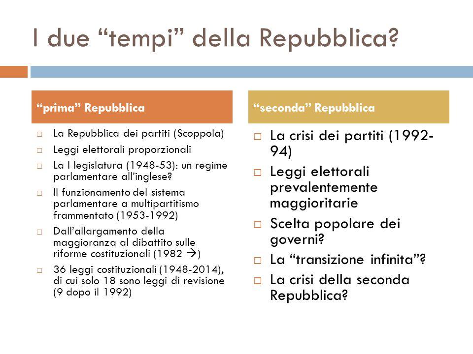 I due tempi della Repubblica