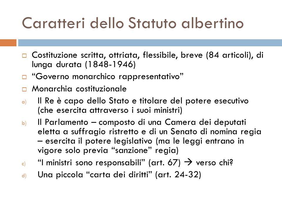 Caratteri dello Statuto albertino