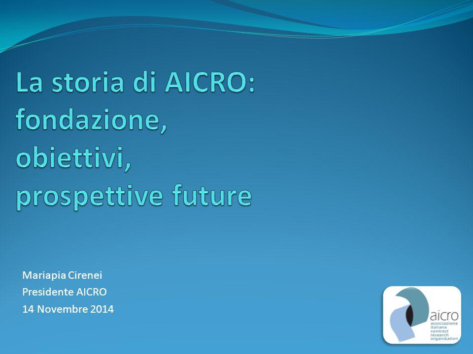 La storia di AICRO: fondazione, obiettivi, prospettive future