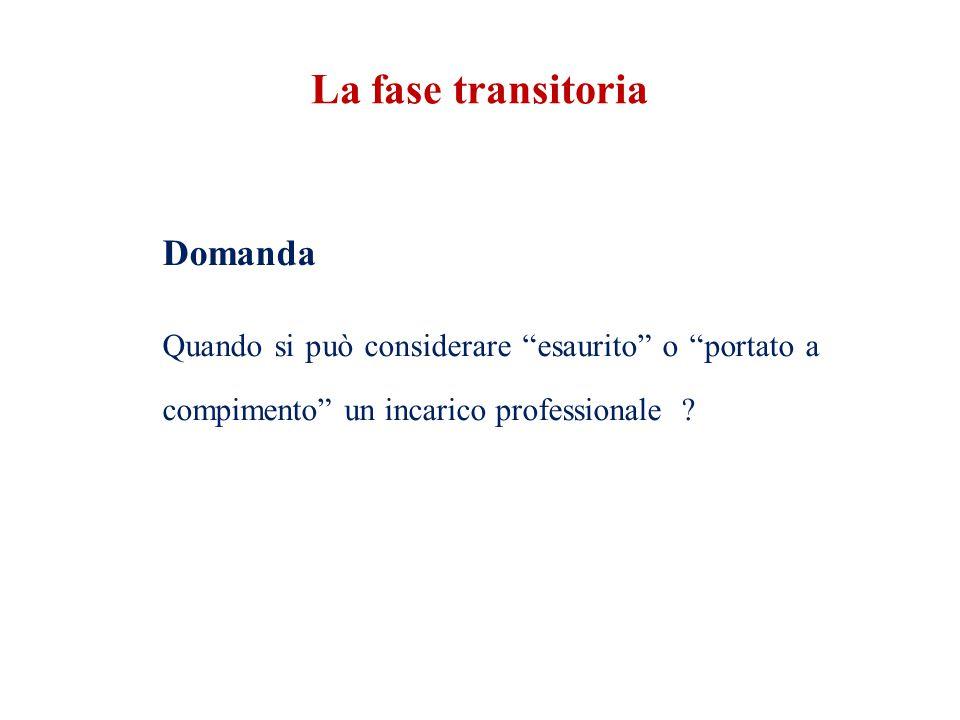 La fase transitoria Domanda.