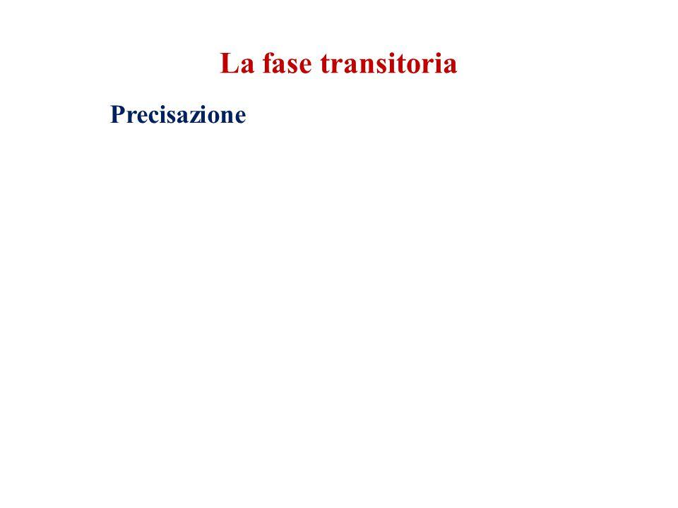 La fase transitoria Precisazione