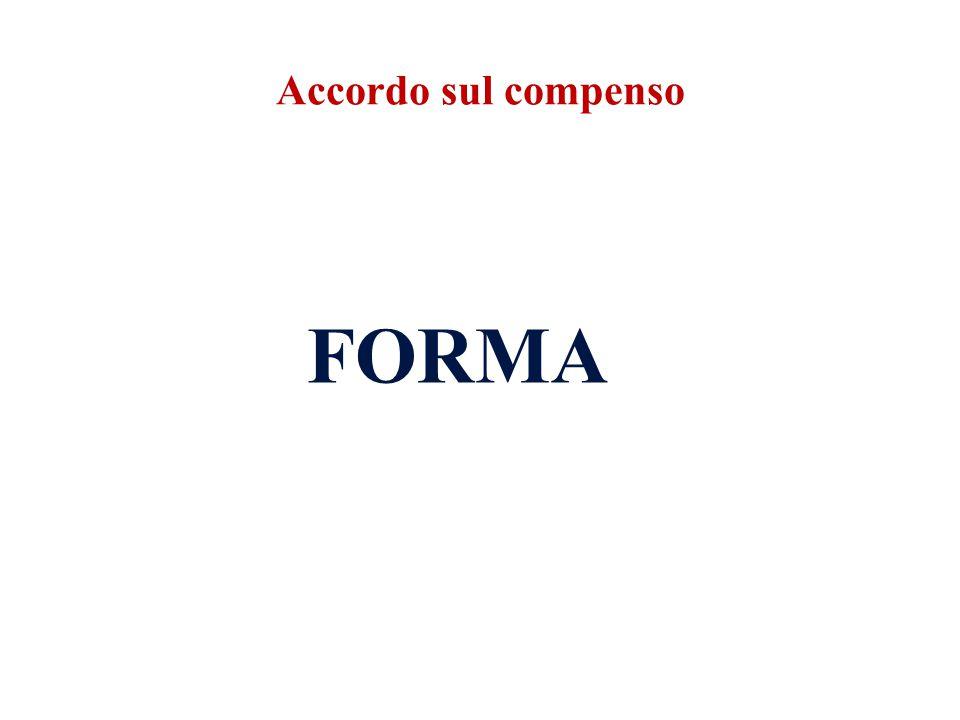 Accordo sul compenso FORMA