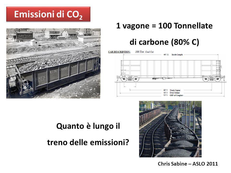1 vagone = 100 Tonnellate di carbone (80% C)