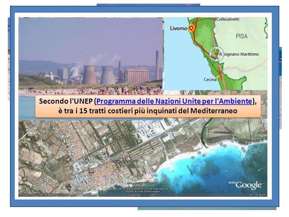 Secondo l UNEP (Programma delle Nazioni Unite per l Ambiente), è tra i 15 tratti costieri più inquinati del Mediterraneo