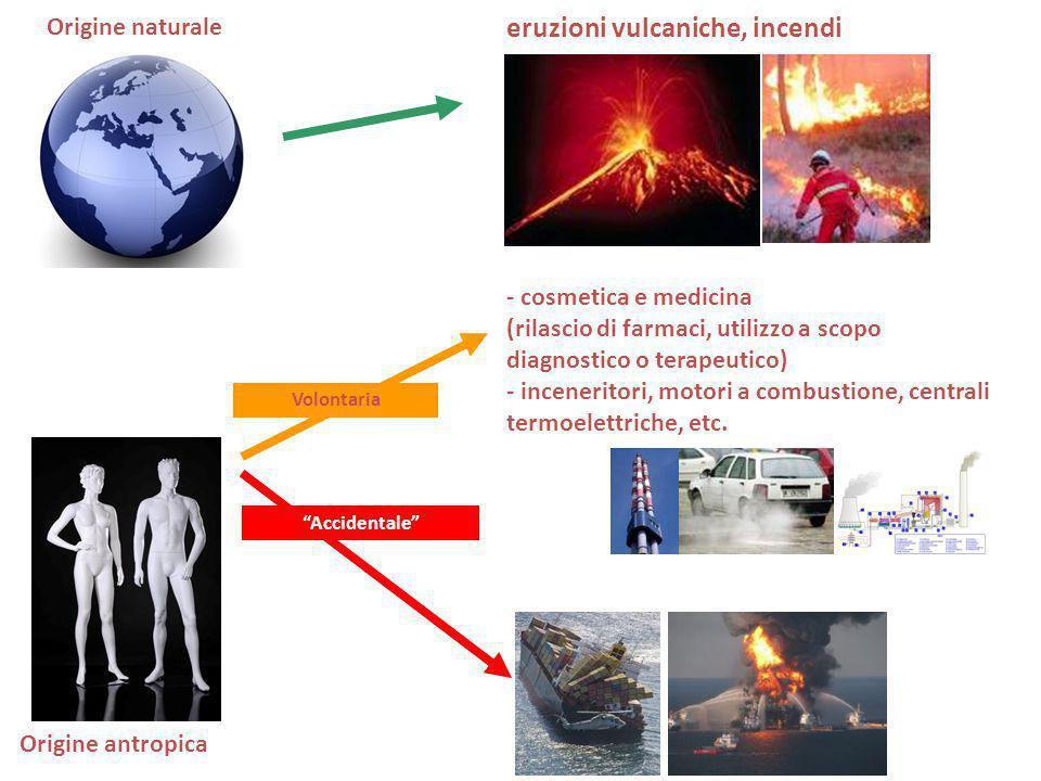 eruzioni vulcaniche, incendi