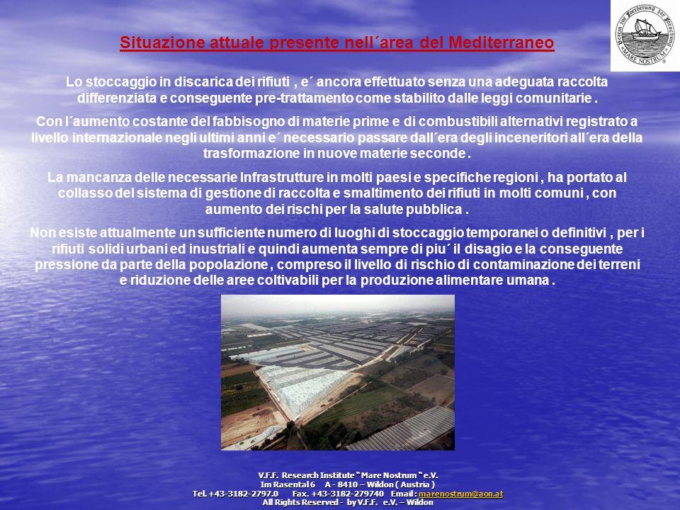 Situazione attuale presente nell´area del Mediterraneo
