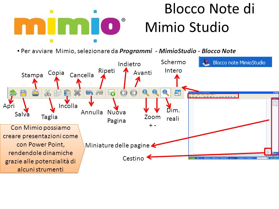 Blocco Note di Mimio Studio