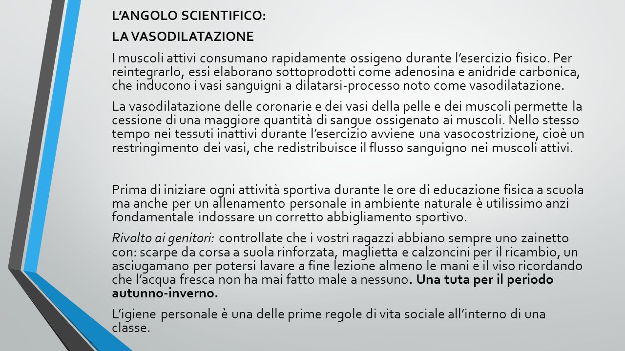 L'ANGOLO SCIENTIFICO: