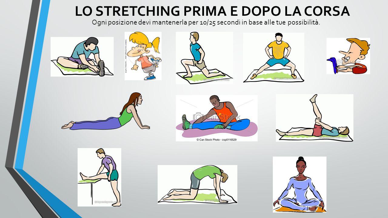 LO STRETCHING PRIMA E DOPO LA CORSA