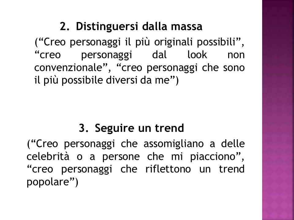 2. Distinguersi dalla massa