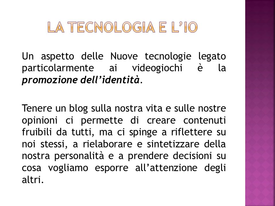La tecnologia e l'Io