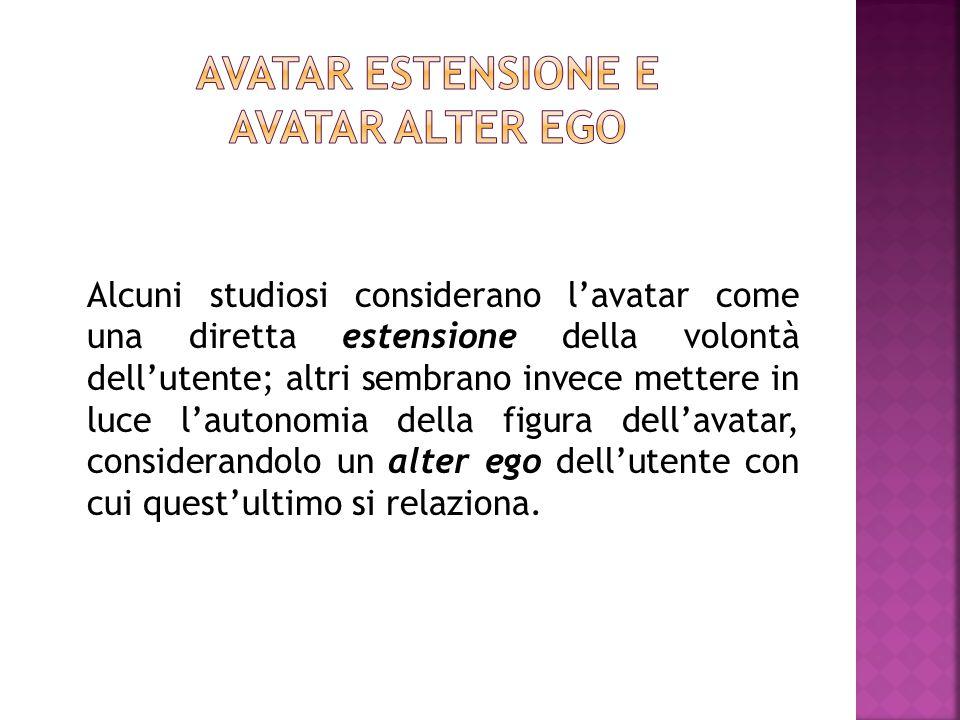 Avatar estensione e avatar alter ego
