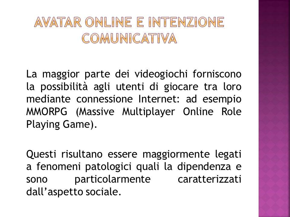 Avatar online e intenzione comunicativa