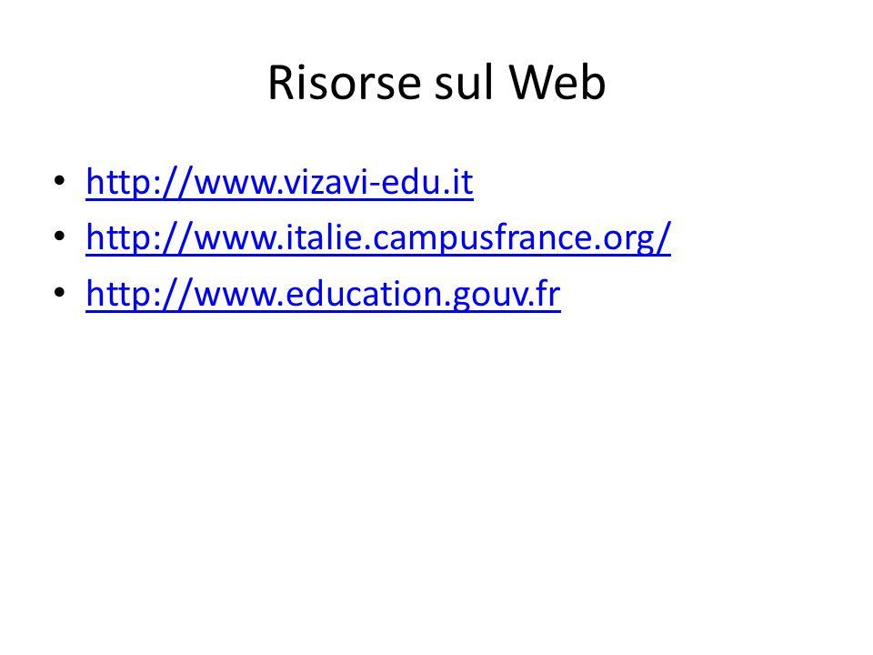 Risorse sul Web http://www.vizavi-edu.it