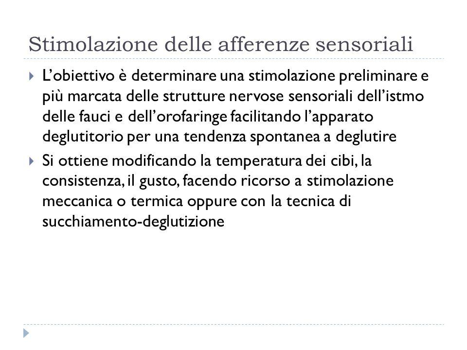 Stimolazione delle afferenze sensoriali