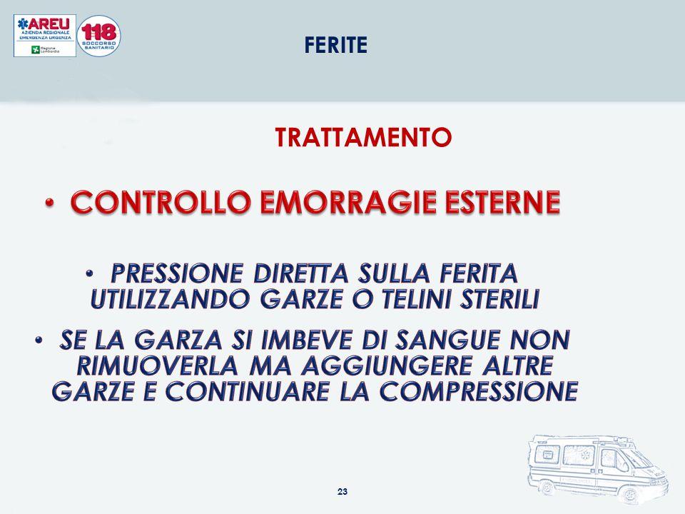 CONTROLLO EMORRAGIE ESTERNE