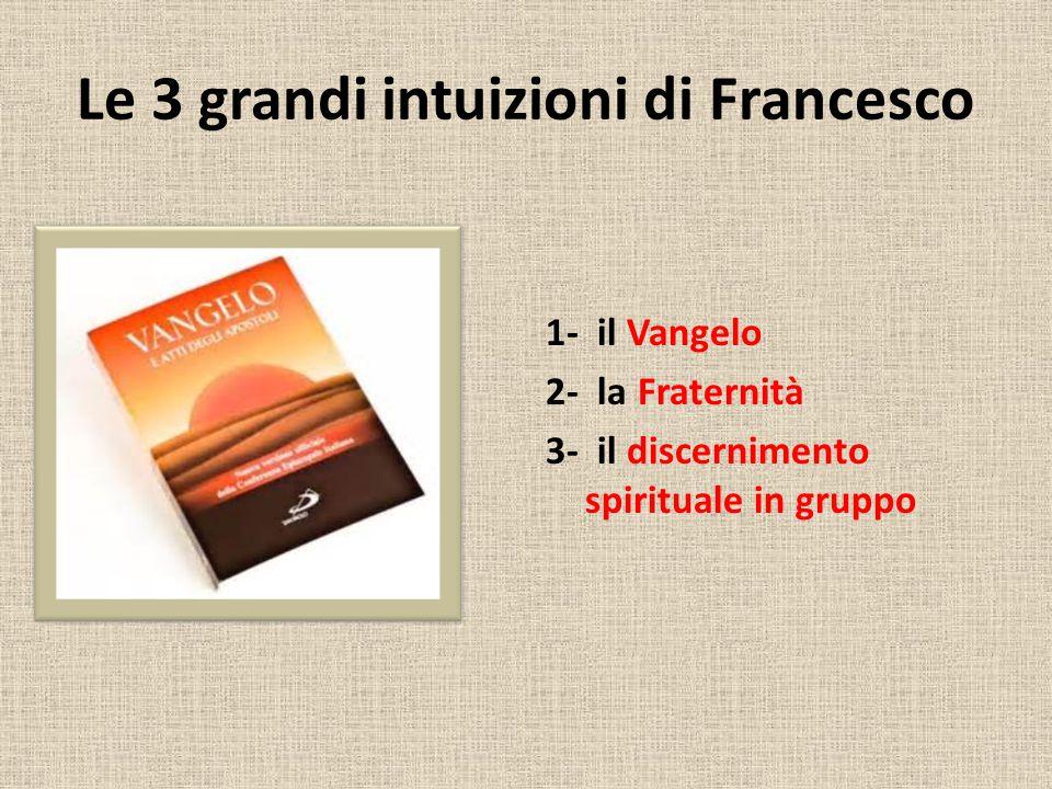 Le 3 grandi intuizioni di Francesco