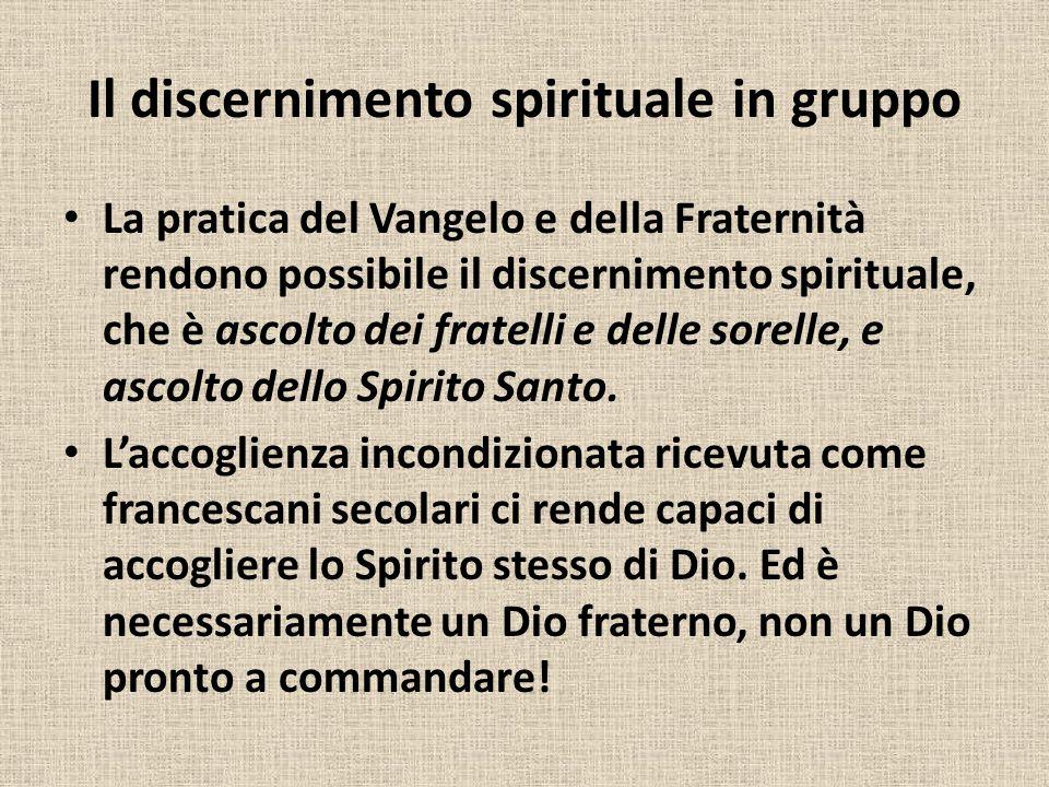 Il discernimento spirituale in gruppo