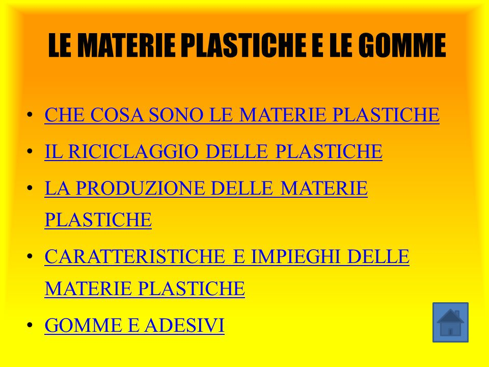 LE MATERIE PLASTICHE E LE GOMME