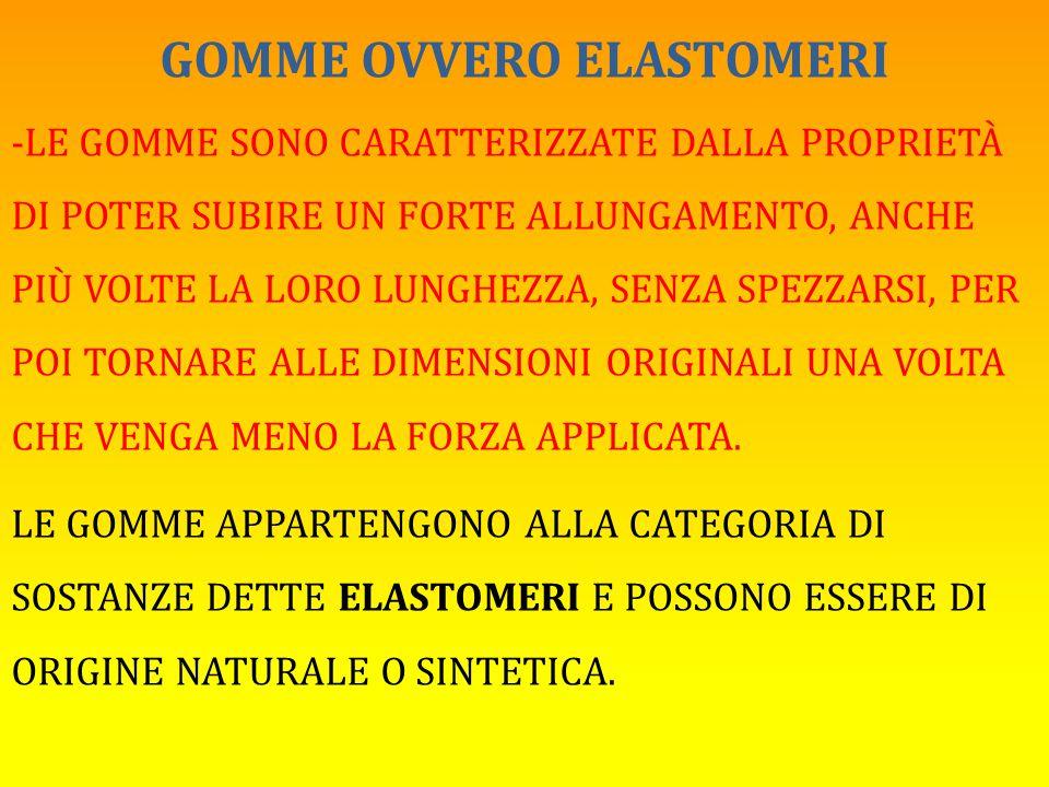 GOMME OVVERO ELASTOMERI