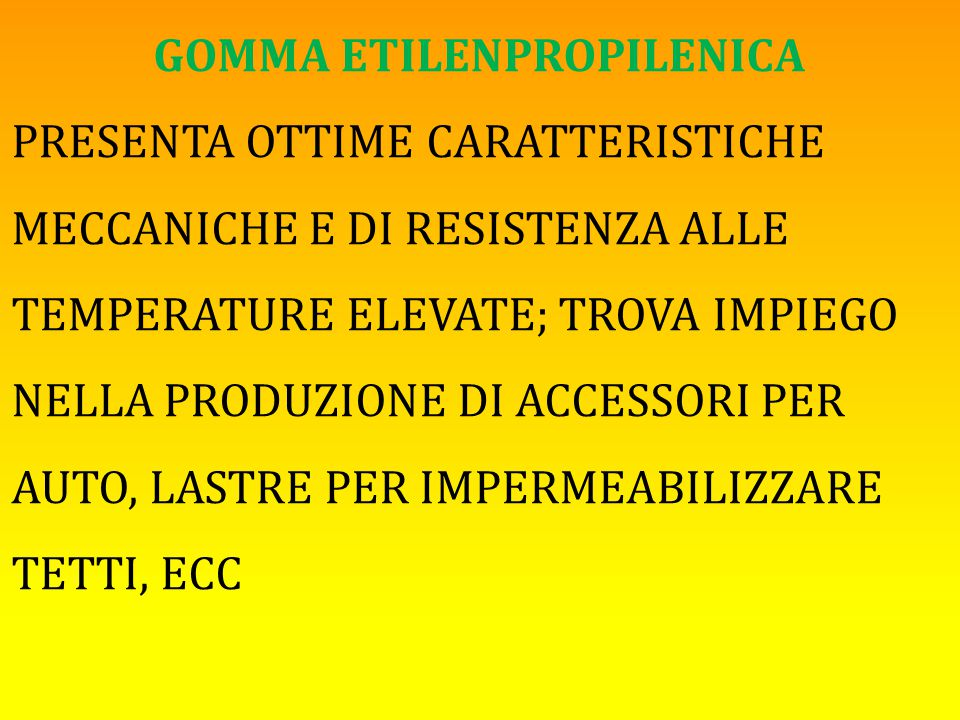 GOMMA ETILENPROPILENICA