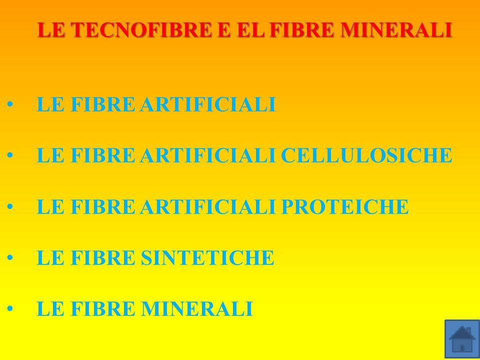 LE TECNOFIBRE E EL FIBRE MINERALI