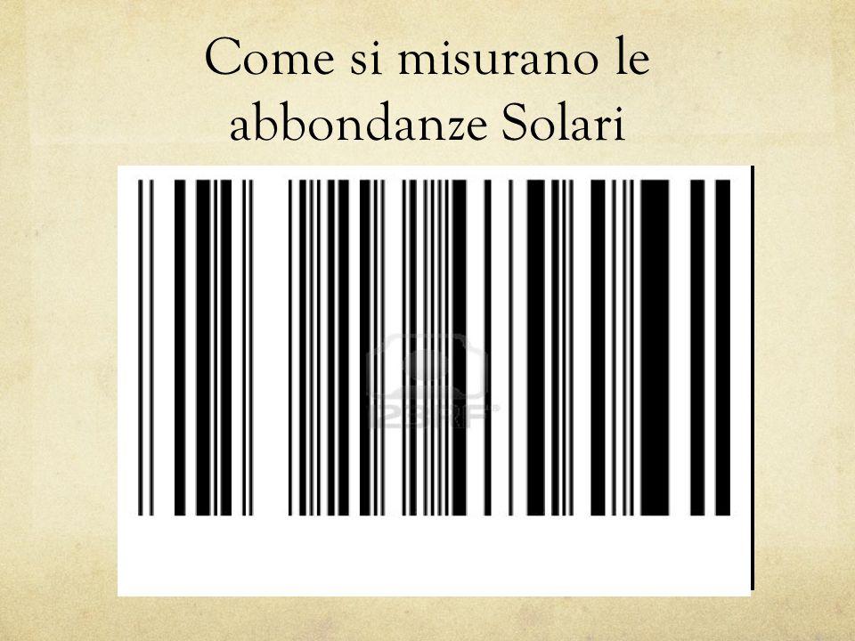 Come si misurano le abbondanze Solari