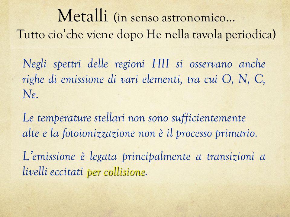 Metalli (in senso astronomico…