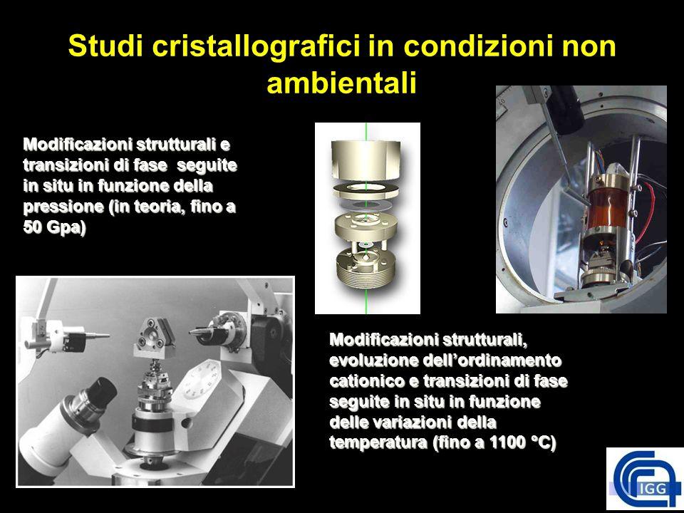 Studi cristallografici in condizioni non ambientali