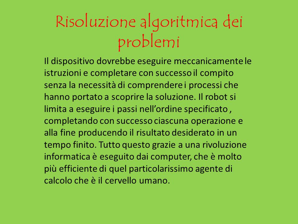 Risoluzione algoritmica dei problemi