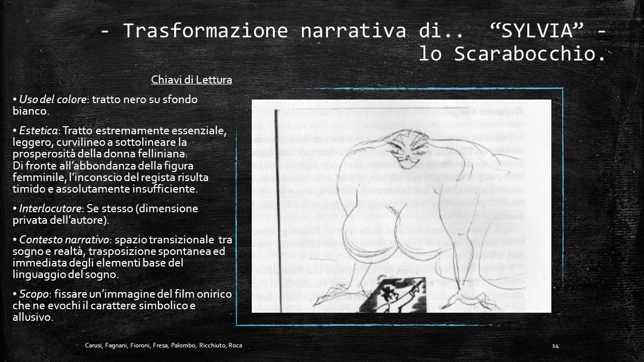- Trasformazione narrativa di.. SYLVIA - lo Scarabocchio.