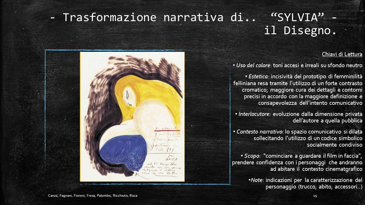 - Trasformazione narrativa di.. SYLVIA - il Disegno.