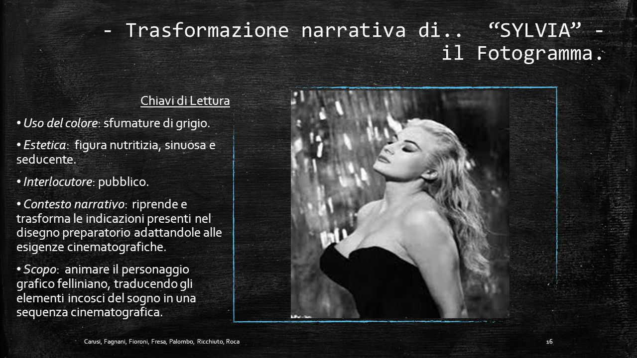 - Trasformazione narrativa di.. SYLVIA - il Fotogramma.