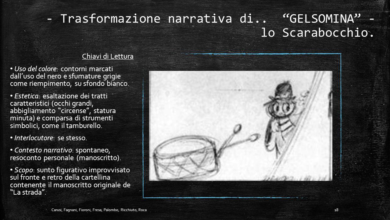 - Trasformazione narrativa di.. GELSOMINA - lo Scarabocchio.