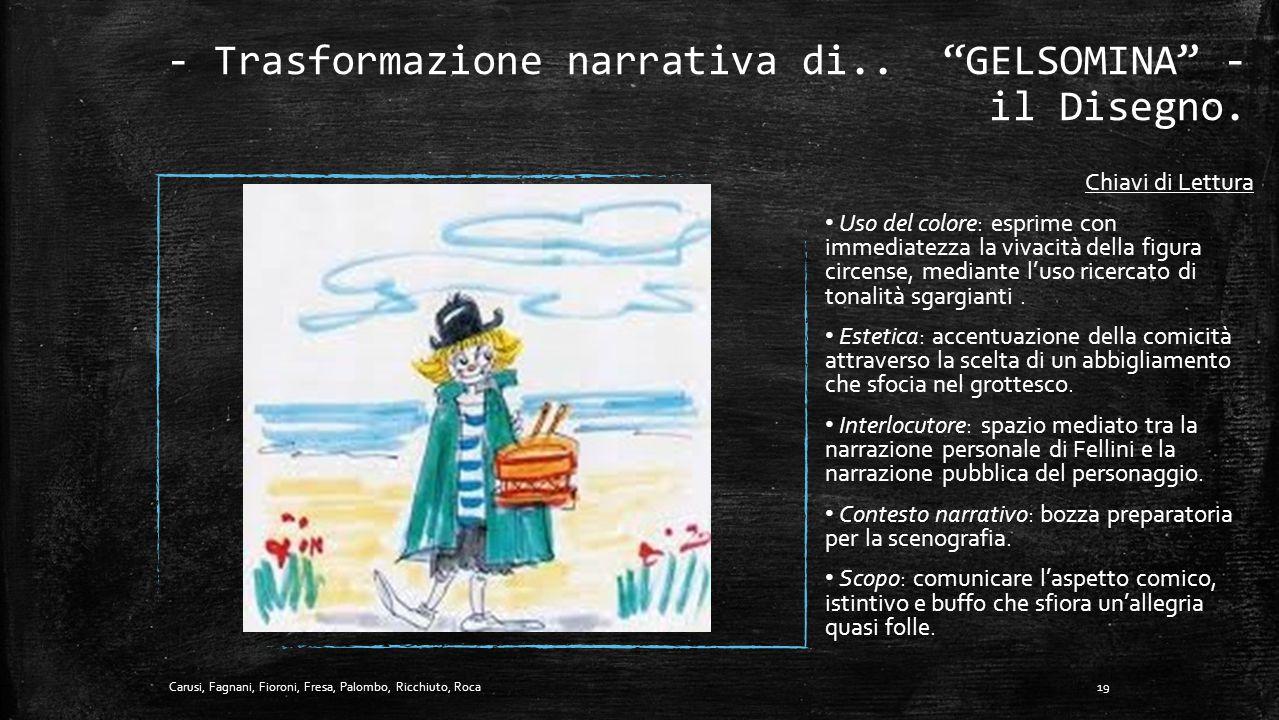 - Trasformazione narrativa di.. GELSOMINA - il Disegno.