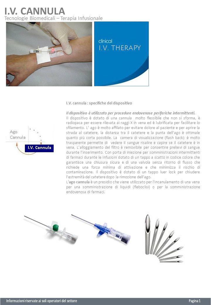 Tecnologie Biomedicali – Terapia Infusionale