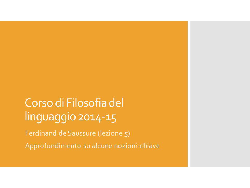 Corso di Filosofia del linguaggio 2014-15