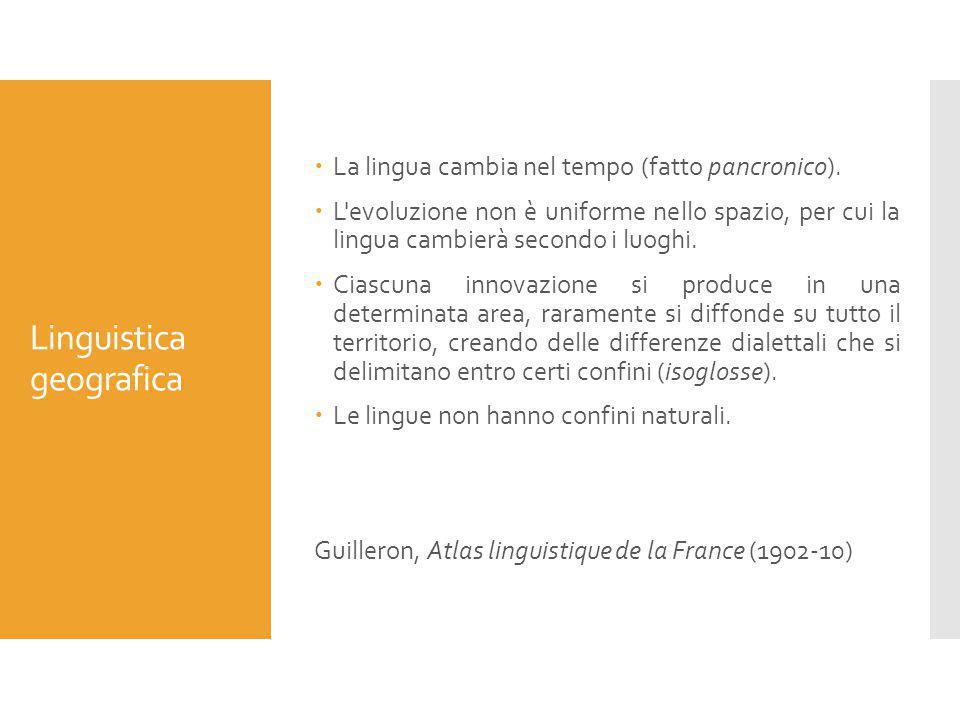 Linguistica geografica