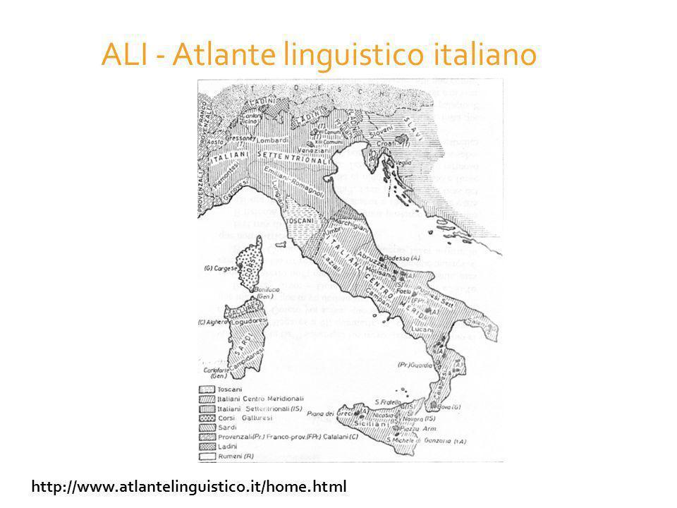 ALI - Atlante linguistico italiano