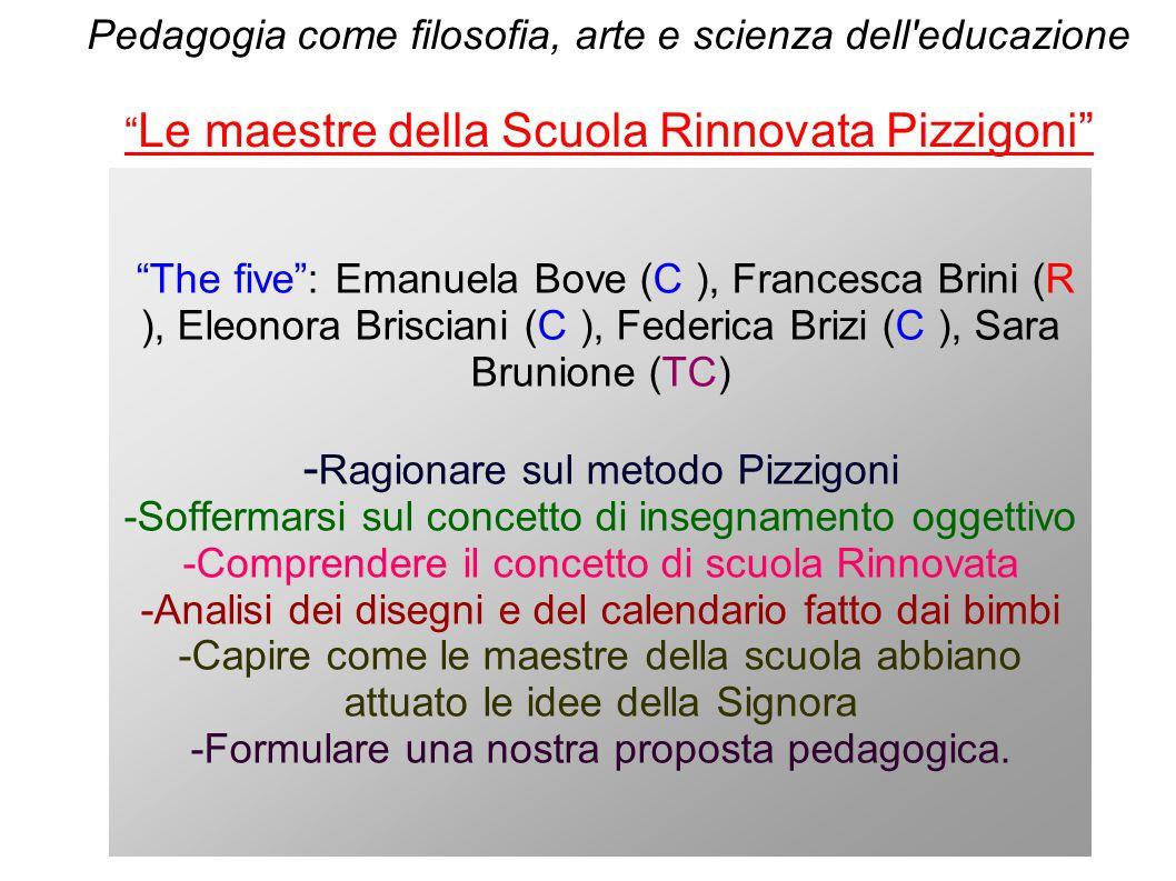 -Ragionare sul metodo Pizzigoni