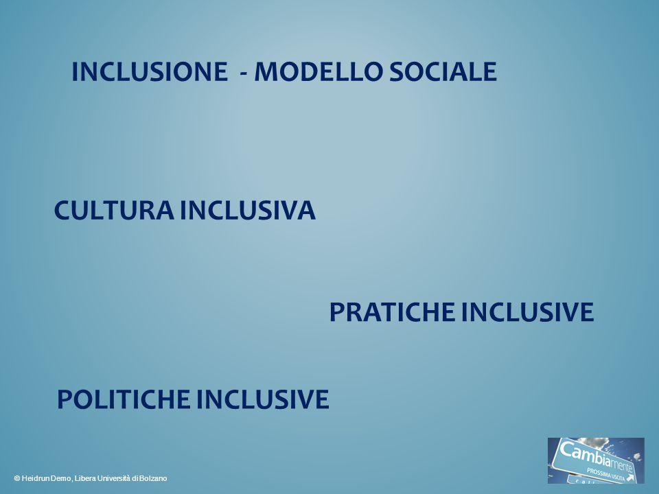 INCLUSIONE - MODELLO SOCIALE