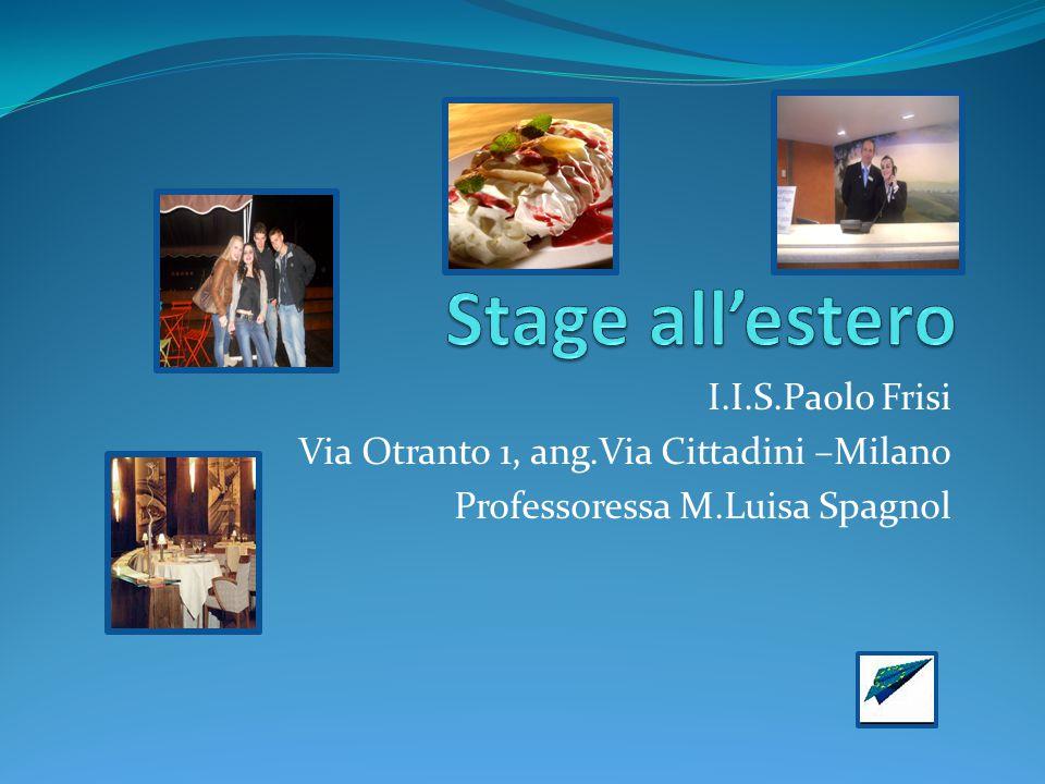 Stage all'estero I.I.S.Paolo Frisi