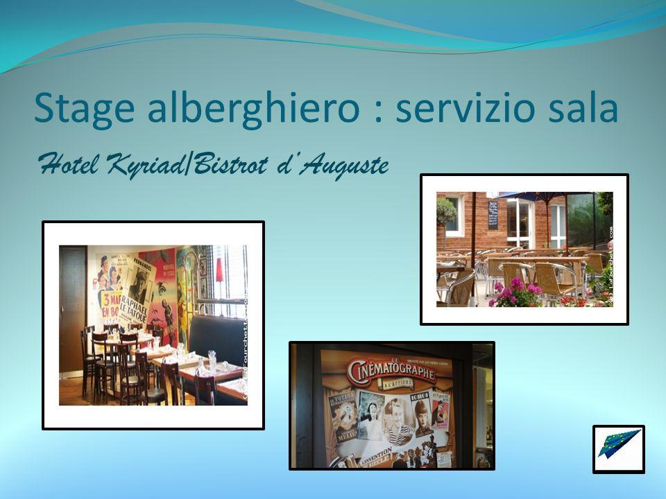 Stage alberghiero : servizio sala