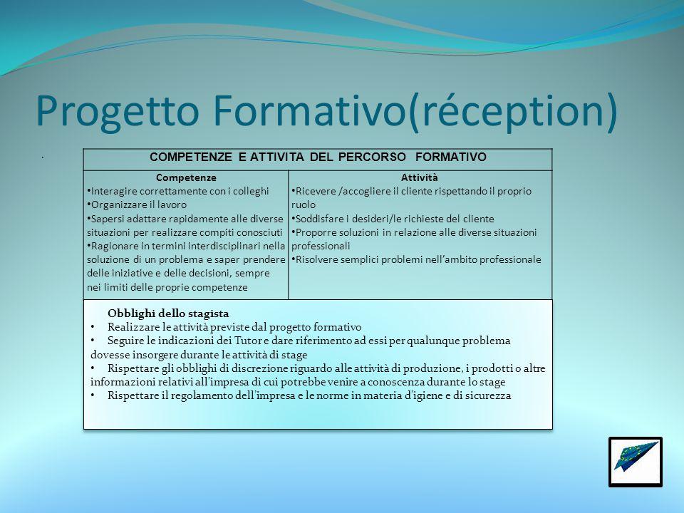 Progetto Formativo(réception)