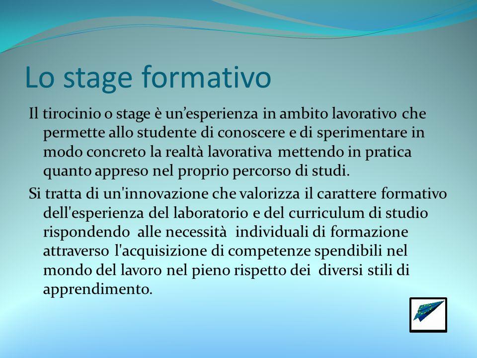 Lo stage formativo