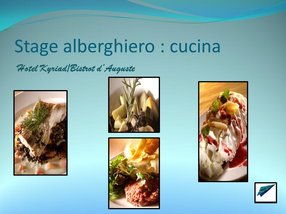 Stage alberghiero : cucina