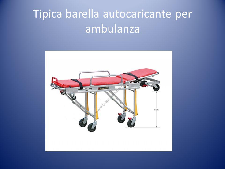 Tipica barella autocaricante per ambulanza